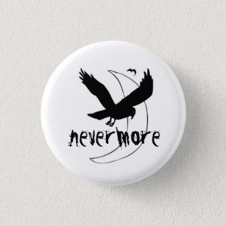 """エドガーアレンPoeは""""Nevermore""""ピンをわめきます 3.2cm 丸型バッジ"""