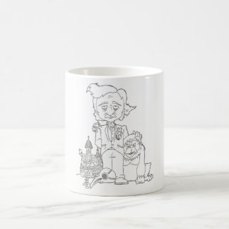 エドガー・アラン・ポーのマグ色あなた専有物 コーヒーマグカップ