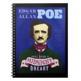 エドガー・アラン・ポーのワタリガラスの引用文およびポートレート ノートブック