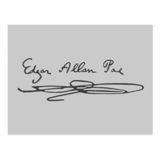 エドガー・アラン・ポーの署名 ポストカード