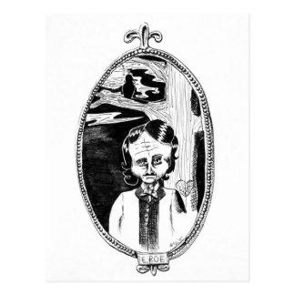 エドガー・アラン・ポーインク風刺漫画 ポストカード