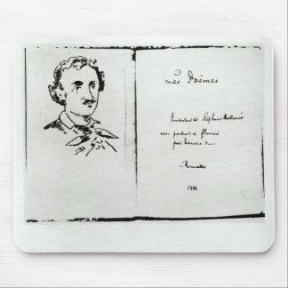 エドガー・アラン・ポー著「Les Poemes」のとびら マウスパッド