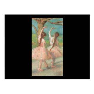 エドガー・ドガのピンクのダンサー ポストカード