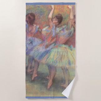 エドガー・ドガのヴィンテージのバレエの芸術著3人のダンサー ビーチタオル
