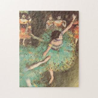 エドガー・ドガのヴィンテージのバレエ著緑のダンサー ジグゾーパズル