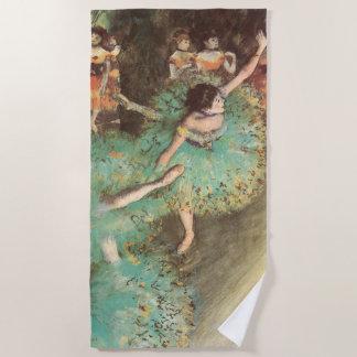 エドガー・ドガのヴィンテージのバレエ著緑のダンサー ビーチタオル
