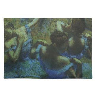 エドガー・ドガのヴィンテージの印象主義著青いダンサー ランチョンマット