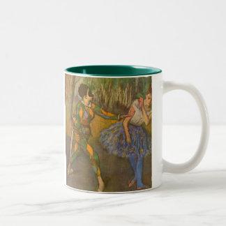 エドガー・ドガのヴィンテージの芸術による道化師そしてオダマキ(植物) ツートーンマグカップ