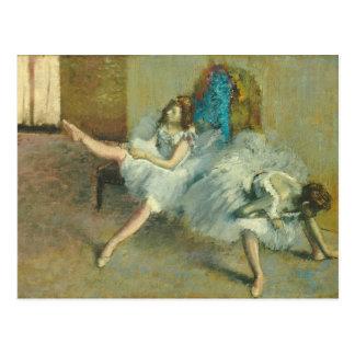 エドガー・ドガバレエの前の|、1890-1892年 ポストカード