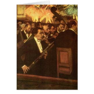 エドガー・ドガ著オペラ、ヴィンテージの芸術のオーケストラ カード