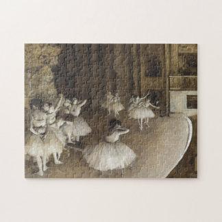 エドガー・ドガ著ステージのバレエのリハーサル ジグゾーパズル