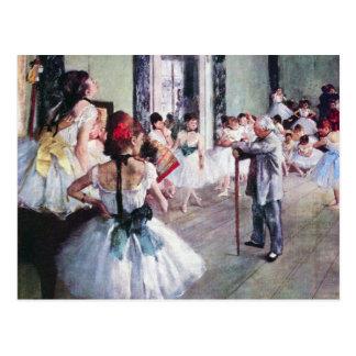 エドガー・ドガ著ダンス教室、ヴィンテージのバレエの芸術 ポストカード