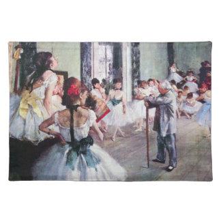 エドガー・ドガ著ダンス教室、ヴィンテージのバレエの芸術 ランチョンマット
