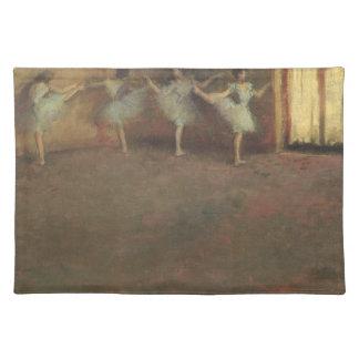 エドガー・ドガ著バレエの前、ヴィンテージのファインアート ランチョンマット