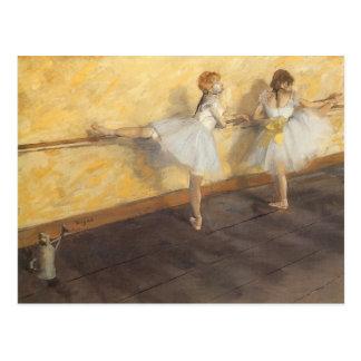 エドガー・ドガ著バー、ヴィンテージのバレエのダンサー ポストカード