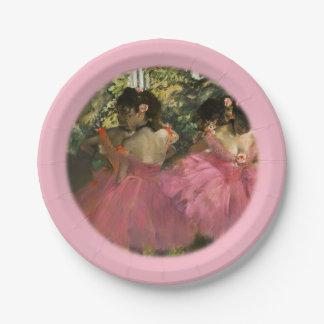 エドガー・ドガ著ピンクのバレリーナ ペーパープレート