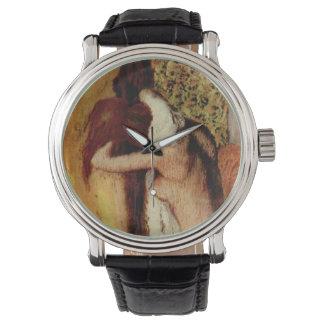 エドガー・ドガ著彼女の首を乾燥している女性 腕時計