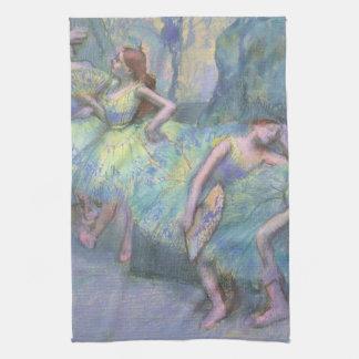 エドガー・ドガ著翼のバレエダンサー キッチンタオル
