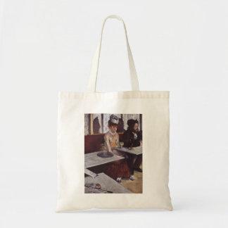 エドガー・ドガ-アブサン1876の人の女性のカフェの油 トートバッグ