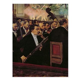 エドガー・ドガ|オペラオーケストラ、c.1870 ポストカード