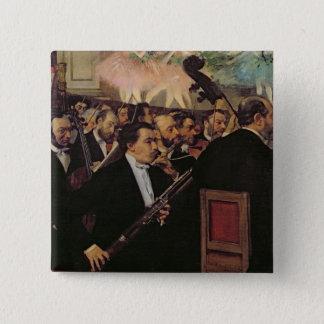 エドガー・ドガ|オペラオーケストラ、c.1870 5.1cm 正方形バッジ