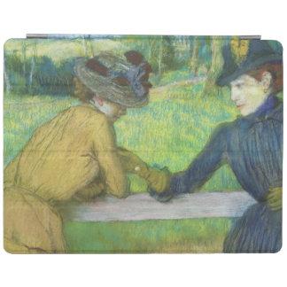 エドガー・ドガ ゲートで傾いている2人の女性 iPadスマートカバー