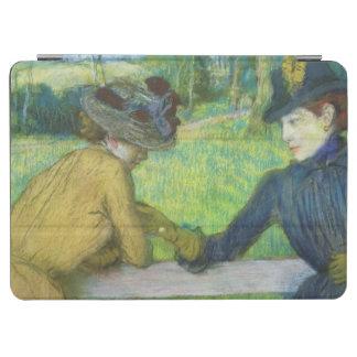 エドガー・ドガ ゲートで傾いている2人の女性 iPad AIR カバー
