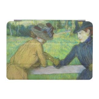エドガー・ドガ ゲートで傾いている2人の女性 iPad MINIカバー