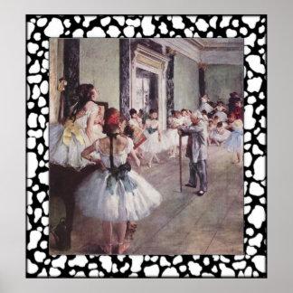 エドガー・ドガ-バレエのクラス ポスター