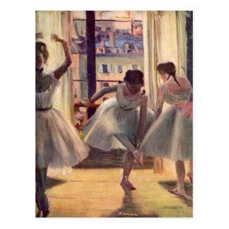 エドガー・ドガ-練習部屋の3人のダンサー ポストカード