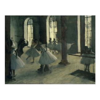 エドガー・ドガ- La Répétition au foyer de la danse ポストカード