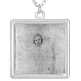 エドガーQuinet 1833年 シルバープレートネックレス