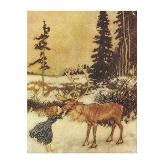 エドマンドDulac雪の女王のファインアート キャンバスプリント