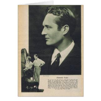 エドマンドLowe 1925年 カード
