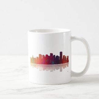 エドモントンカナダのスカイライン コーヒーマグカップ