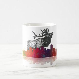 エドモントン及びカナダのアメリカヘラジカ-マグ コーヒーマグカップ