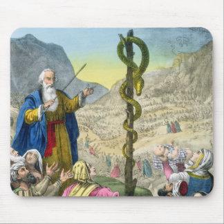 エドワードが印刷する聖書からの真ちゅう製の蛇、 マウスパッド