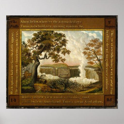 エドワードの田舎者ナイアガラの滝 ポスター