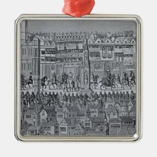エドワード六世の即位の行列の部分 メタルオーナメント