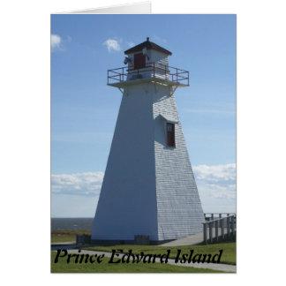 エドワード島灯台王子 グリーティングカード