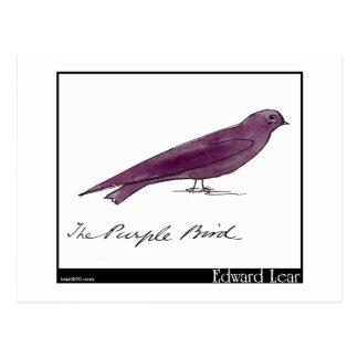エドワード・リアの紫色の鳥 ポストカード