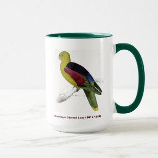 エドワード・リアの鳥の深紅色によって飛ぶインコ マグカップ