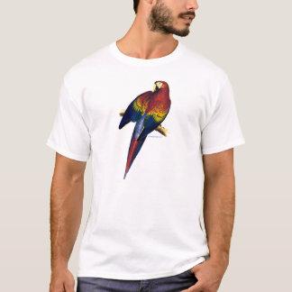 エドワード・リアのTシャツによる赤く及び黄色のコンゴウインコのイメージ Tシャツ