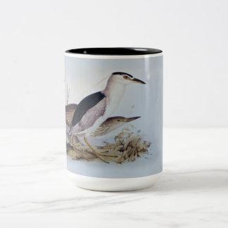エドワード・リア-夜鷲-鳥の絵画 ツートーンマグカップ