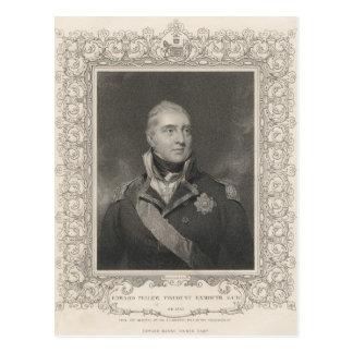 エドワードPellew、c.1810海軍大将 ポストカード