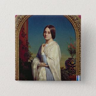 エドワールDubufe 1842年夫人 5.1cm 正方形バッジ
