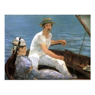エドワールManetのファインアートによる船遊び ポストカード