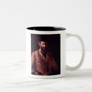 エドワールManetの自画像 ツートーンマグカップ