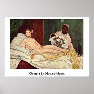 エドワールManet著オリンピア ポスター
