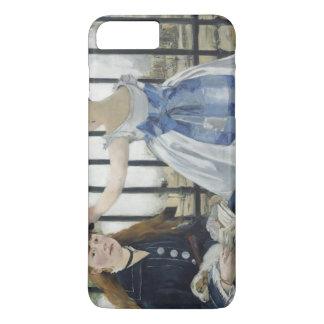 エドワールManet著鉄道 iPhone 8 Plus/7 Plusケース